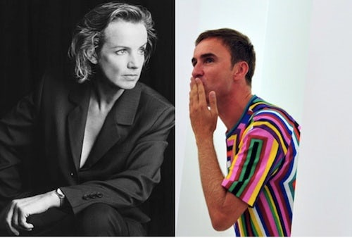 Jil Sander and Raf Simons | Source: InStyle and Grazia Daily