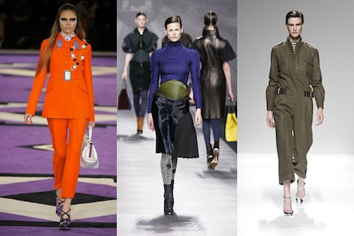Prada, Fendi, Max Mara Autum/Winter 2012 | Source: Showmoda
