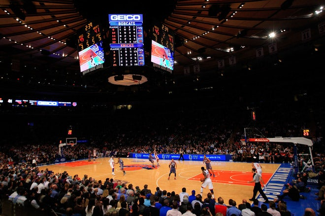 Madison Square Garden:   Source: Sports Yahoo