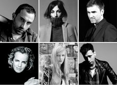 (Clockwise L-R) Ricardo Tisci, Phoebe Philo, Raf Simons, Hedi Slimane, Sarah Burton, Jil Sander