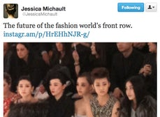 Future of the Fashion World's Front Row | Source: Jessica Michault Twitter