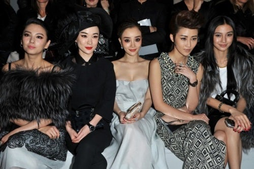 Front Row Christian Dior Autumn/Winter 2012 | Source: China Daily