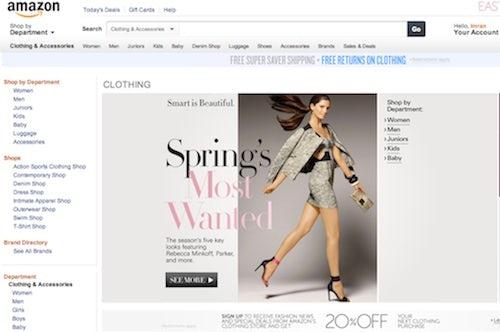 Amazon.com/fashion screen shot | Source: Amazon.com