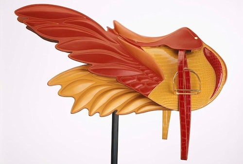 Hermès winged saddle bag | Source: Glam