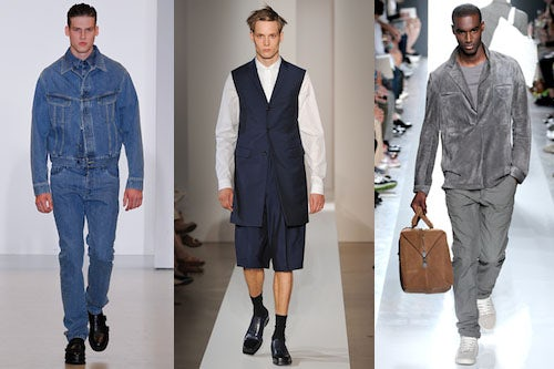 Calvin Klein, Jil Sander and Bottega Veneta Spring/Summer 2013 | Source: Style.com