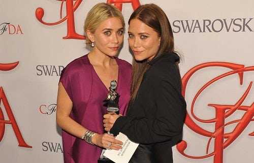 Ashely and Mary Kate Olsen at the 2012 CDFA Awards | Source: Styleite