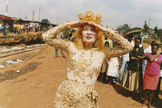 Vivienne Westwood in Kenya | Photo: Juergen Teller