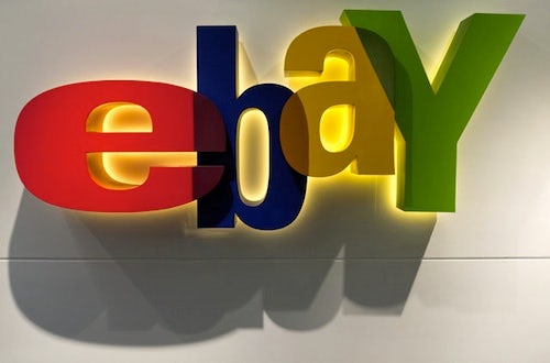 Ebay logo | Source: Bloomberg