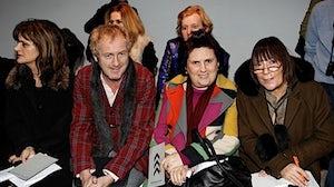 Fashion Critics (L-R) Cathy Horyn, Godfrey Deeney, Suzy Menkes and Hilary Alexander