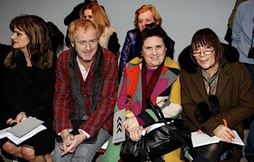 Fashion Critics (L-R) Cathy Horyn, Godfrey Deeney, Suzy Menkes and Hilary Alexander