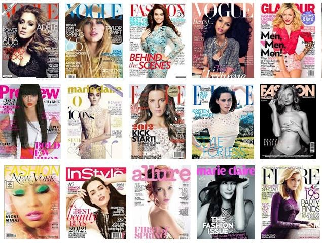 Fashion Magazine Covers from 2012 | Source: Google Images