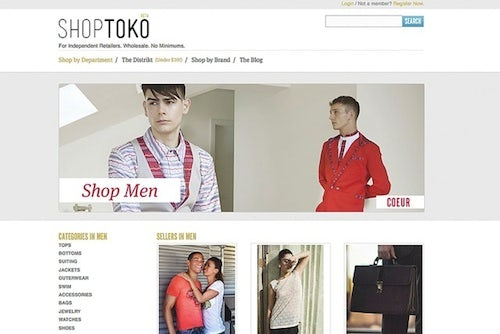 ShopToko screen shot | Source: WWD
