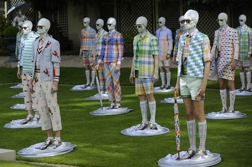 Thom Browne Spring 2013 | Source: Glamour Goddess