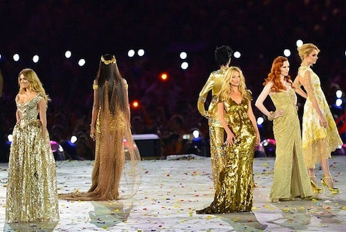 Models at the closing ceremony   Source: Telegraph