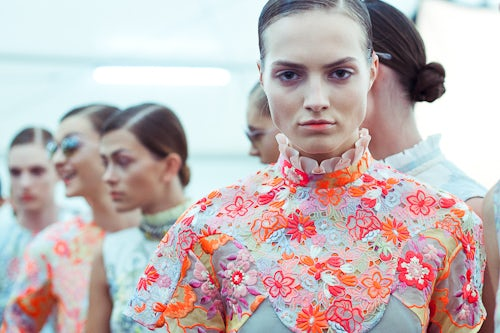 Backstage at Erdem's Spring/Summer 2013 Show | Photo: Morgan O'Donovan for LFW Daily