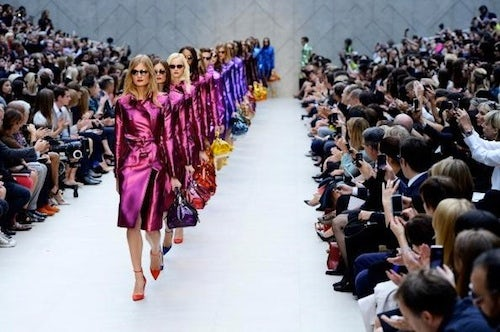 Burberry Spring/Summer 2013 | Source: Examiner