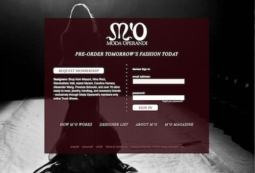 Moda Operandi Membership Request Screen | Source: Moda Operandi