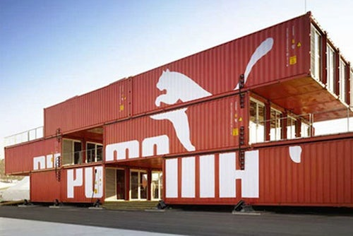 Puma shipping container store | Source: Gliving