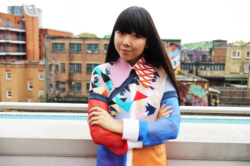 Susie Bubble wearing Leutton Postle S/S 2013 | Photo: Steve Salter
