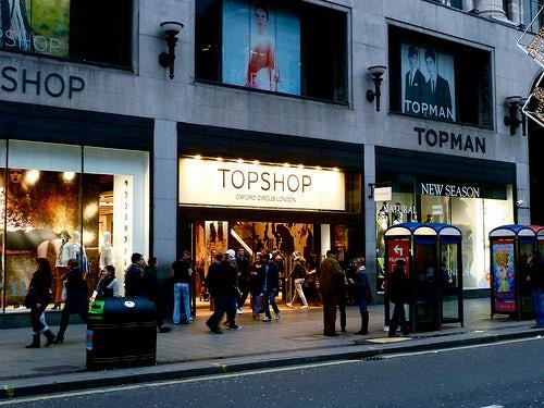 Topshop Oxford Street store | Source: EKM Power Shop
