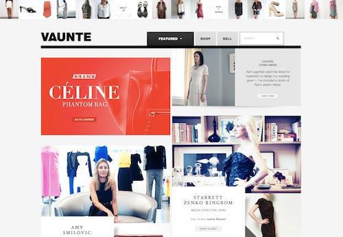 Screenshot of Vaunte.com | Source: Vaunte.com