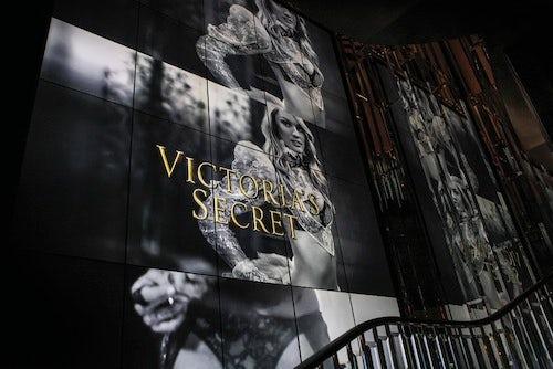 Victoria's Secret Bond Street store video wall | Source: AV Interactive