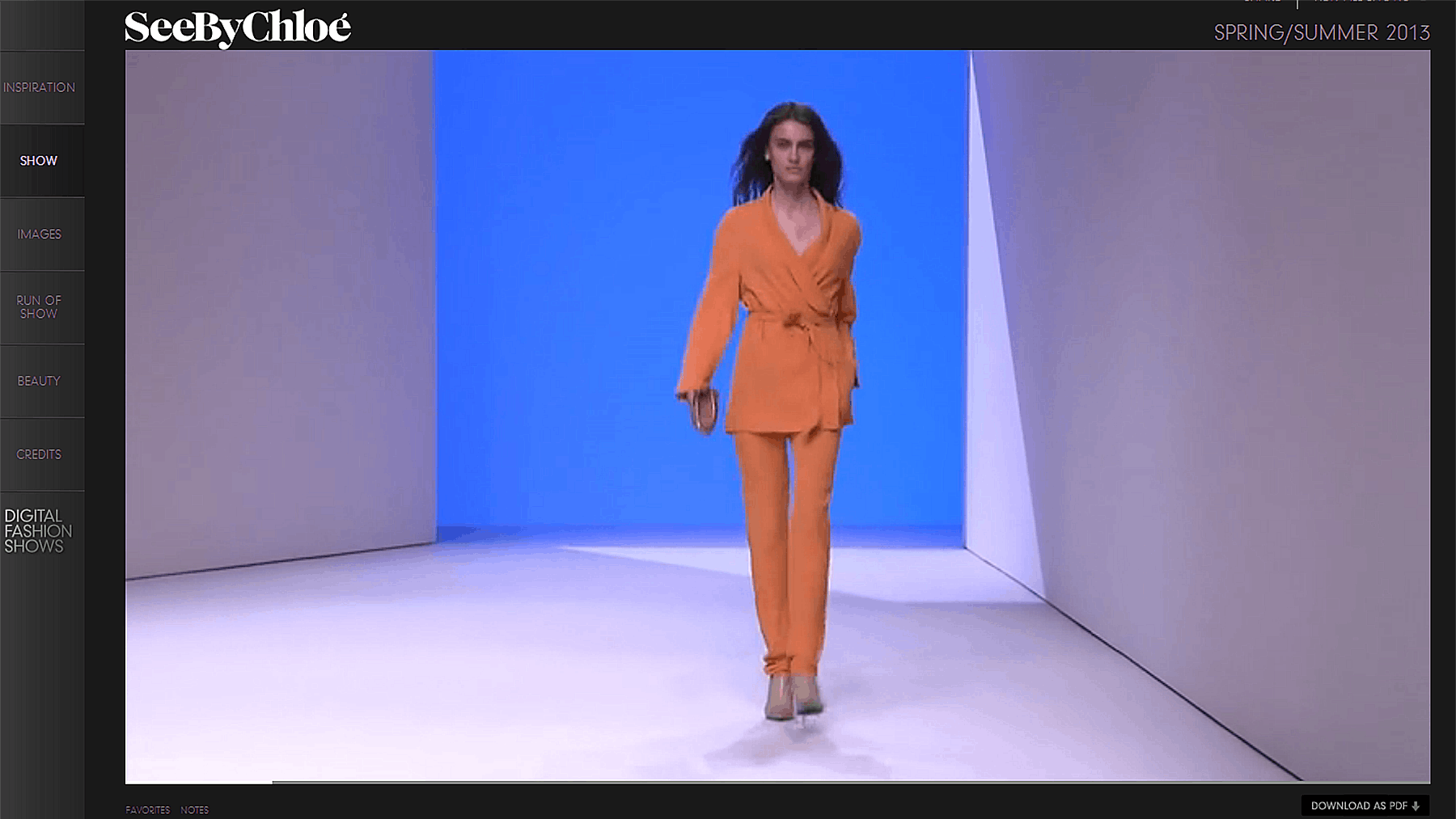 Screenshot of DigitalFashionShows.com | Source: KCD