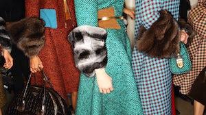 Wool and fur at Prada A/W 2013   Photo: Sonny Vandevelde