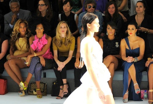Beyonce Knowles, Solange and Kim Kardashian at NYFW | Source: Fan Pop