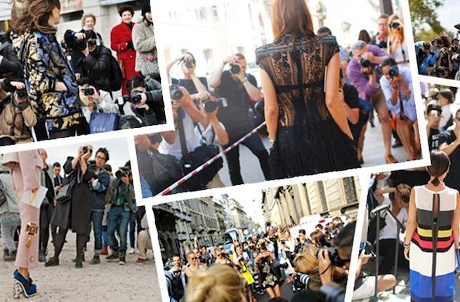 Fashion paparazzi outside the shows | Source: Style Snooper Dan