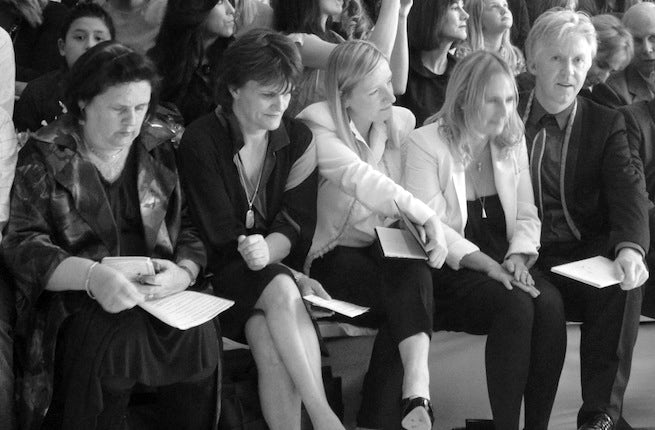Suzy Menkes, Cathy Horyn, Sarah Burton and Phillip Treacey | Source: Bacca da Silva
