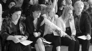 Suzy Menkes, Cathy Horyn, Sarah Burton and Phillip Treacey | Source: Bacca da Silva
