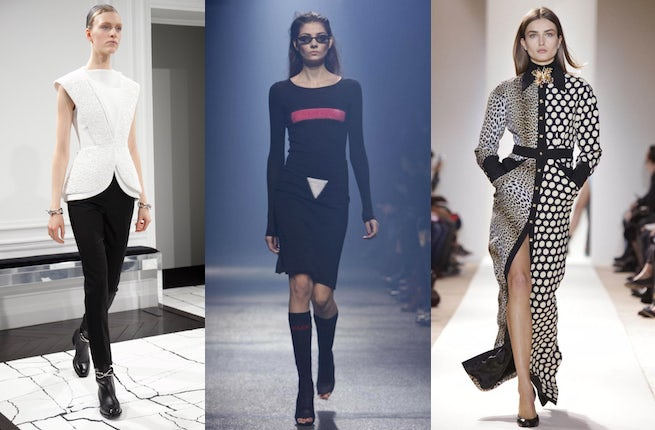 A/W 2013 looks from Balenciaga, Sonia Rykiel and Emanuel Ungaro | Source: Nowfashion