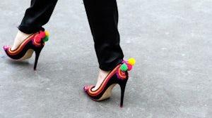 Caroline Issa for L.K. Bennett 'Parrot' shoe | youjustgotspotted.com