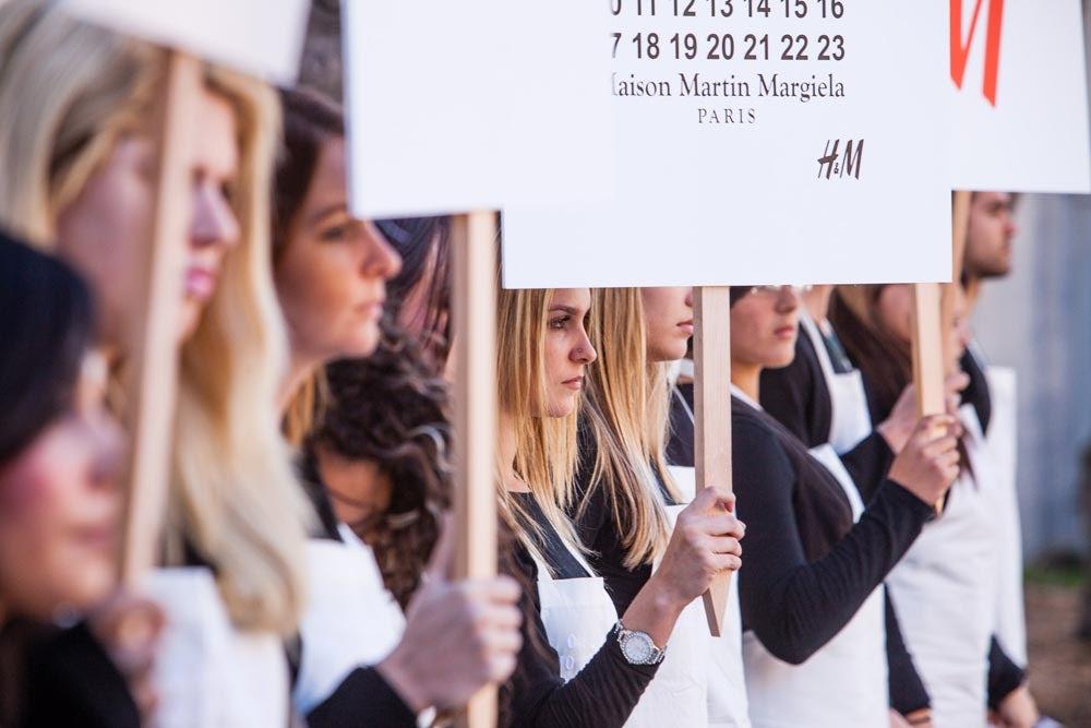 Maison Martin Margiela x H&M Silent Manifesto March | Source H&M