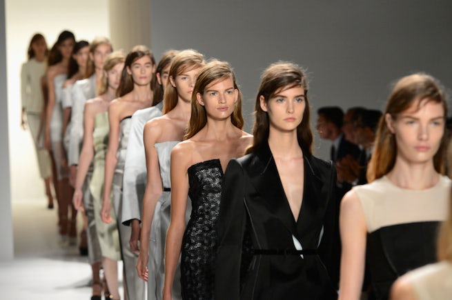 Finale at Calvin Klein, February 2013 | Source: Calvin Klein