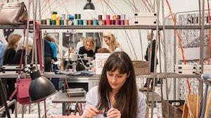 Claire Marie, Leather Craftsperson at the Festival des Métiers | Source: Hermès