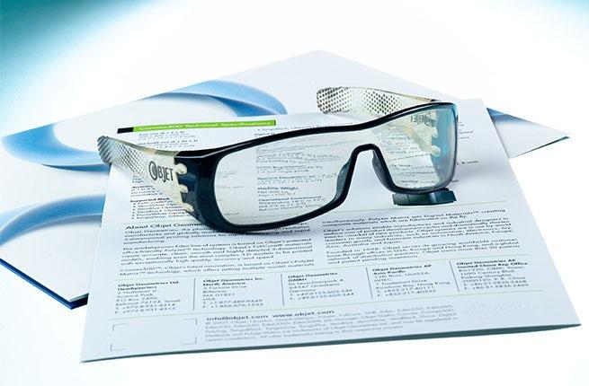 3D printed eyewear   Source: Stratasys