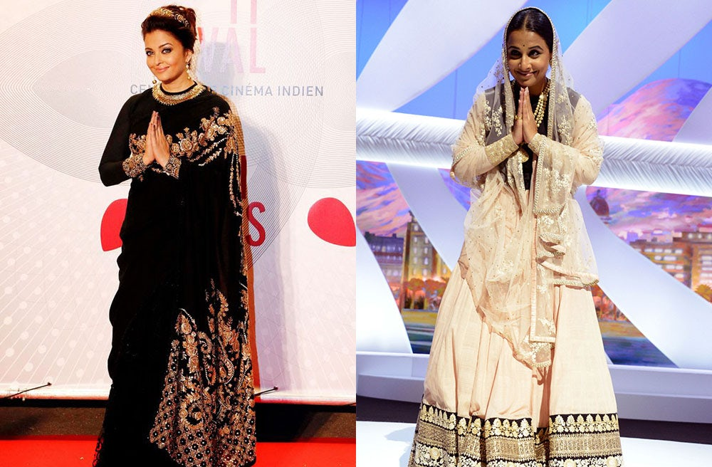 Aishwarya Rai Bachchan and Vidya Balan at Cannes Film Festival | Source: Photo composite by BoF