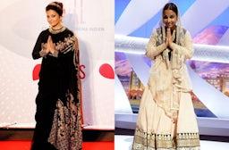 Aishwarya Rai Bachchan and Vidya Balan at Cannes Film Festival | Source: Photo composite by BoF