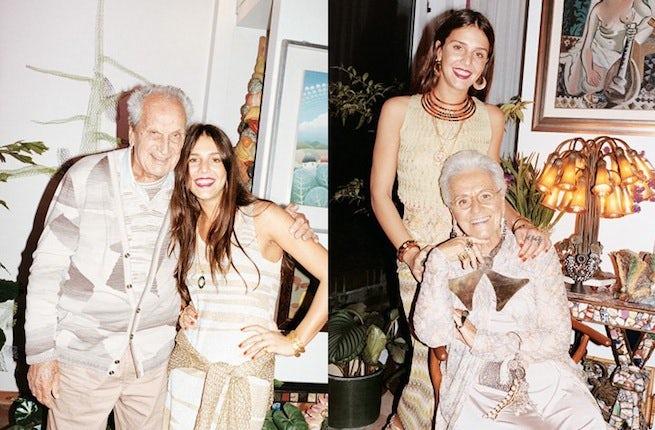 Missoni S/S 2010 campaign with Ottavio, Rosita and Margherita Missoni, shot by Juergen Teller | Source: Missoni