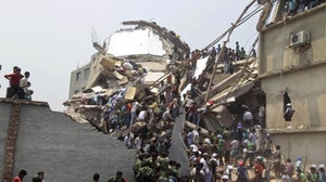 Collapsed building in Bangladesh | Source: Associated Press