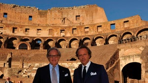 Diego and Andrea della Valle at Rome's Coliseum | Source: Tod's