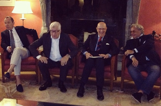 Gildo Zegna, Patrizio Bertelli, Mario Boselli and Diego della Valle | Source: BoF