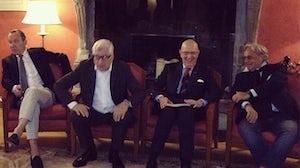 Gildo Zegna, Patrizio Bertelli, Mario Boselli and Diego della Valle   Source: BoF