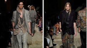 Haider Ackermann Menswear at Pitti W, June 2010 | Source: Style Savage