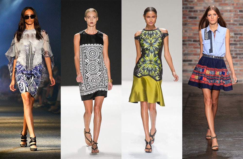 Spring 2013 looks from Prabal Gurung, Naeem Khan, Bibhu Mohapatra and Sachin + Babi | Source: Photo illustration by BoF