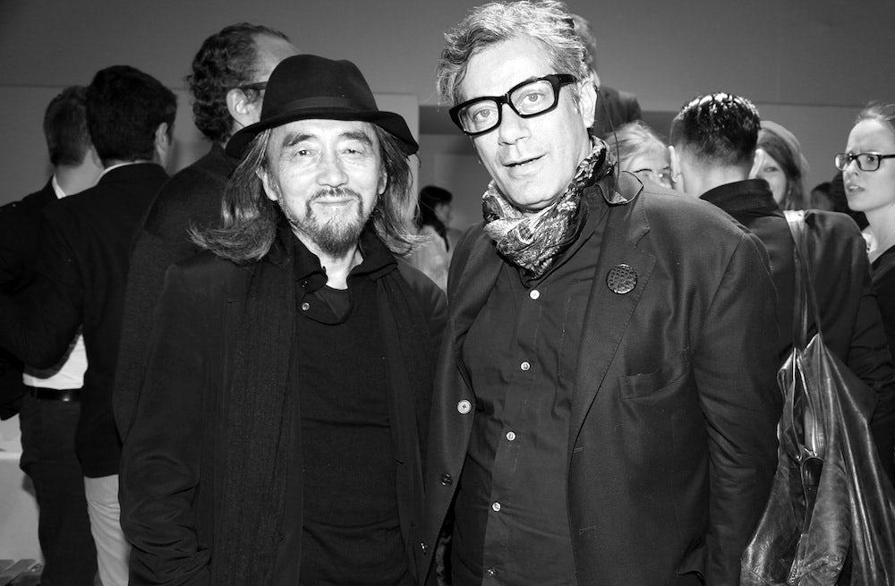 Yohji Yamamoto and Marc Ascoli   Photo: Saskia Lawaks