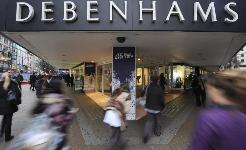 Debenhams | Source: Reuters