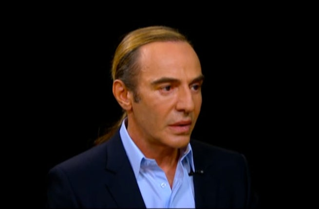 John Galliano on Charlie Rose | Source: Charlie Rose